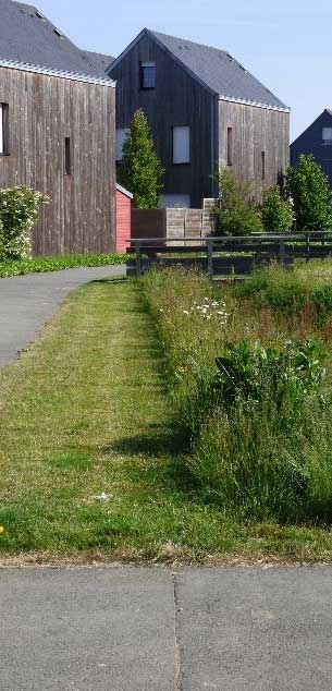 Un espace vert dans la ville La Chapelle-des-Fougeretz