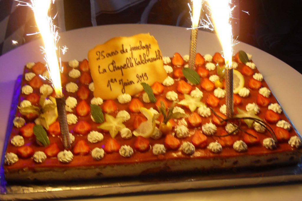 Le gâteau des 25 ans de jumelage Kalchreuth - La Chapelle des Fougeretz